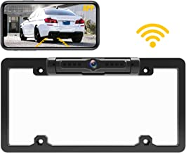 $69 » Wi-Fi License Plate Backup Camera with Frame for iOS and Android, 170°Wide Angle Rear View Camera with 8 LED Lights Night ...