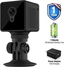 CamCuddle Mini Hidden Camera – Security Wifi Camera Records Live 1080P HD Video – Small Spy Camera – 140° Lens, Night Vision, Waterproof & Motion Detecting Mini Surveillance Camera – Android & iOS App
