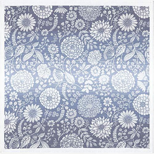 ekelund mitteldecke tischdecke flytande bla 75 x 75 cm 100 Bio-Baumwolle