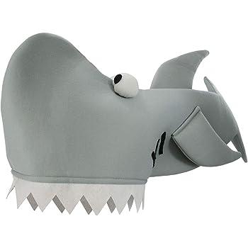 Shark Bite Costume Hat, Gray, One Size