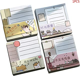 Wodwad Kawaii Memo Pads,1 Pack Funny Notepads Mini Calendar for Office Gifts School Supply
