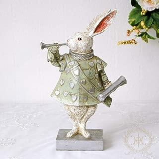 バロックラビット/グリーン ウサギのオブジェ(イースターバニー) ハルモニア