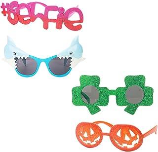IPOTCH 4x Gafas de Sol Fiestas Novedad Divertidas Disfraces Fotos Autofoto Coleccionables Fundas Decorativas Adornos