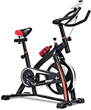 GOPLUS Adjustable Exercise Bike, Stationary Bike, Indoor Cycle Bike, with Heart Rate..