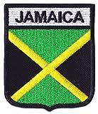 Jamaika Flagge Aufnäher Aufbügler Patch Reggae Ragga Raggaton Kingston Karibik Party Festival