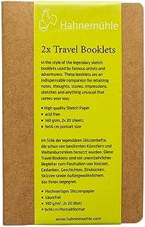 Hahnemuhle 2*Travel Sketch Booklets (Portrait) - Spiral - 140 GSM - 9 * 14 (cm)