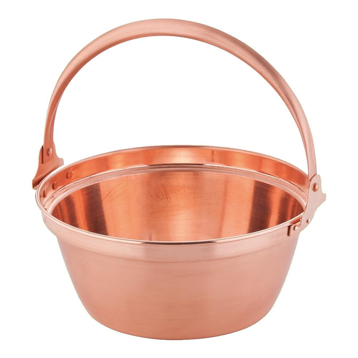 レンズセブン呼び起こす遠藤商事 銅 山菜鍋(内側錫引きなし) 27cm ASV01027