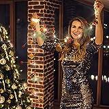 LED Lichterkette WeihnachtenBeleuchtung Weihnachtsdeko Warmweiß - 7