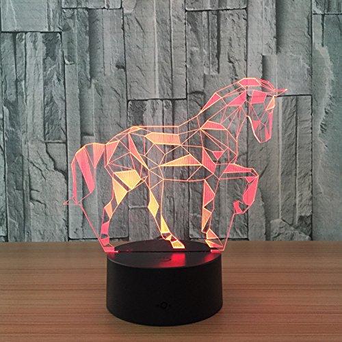 3D LED nachtlampje kind Touch USB licht baby slaap nachtlampje rood