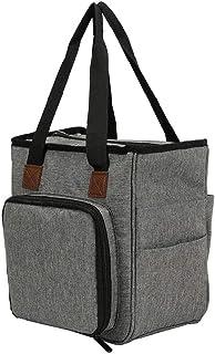 NIDONE Tricotage Sac fourre-Tout Organisateur de Stockage Portable pour Yarns Crochet Crochets Aiguilles Gris