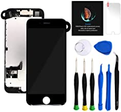 """Keytas Compatible with iPhone 7 Plus Screen Replacement Kit Black 5.5"""" LCD for iPhone 7 Plus 3D Touch Screen Digitizer Full Assembly with Front Camera+ Earpiece+ Tools Kit+ Screen Protector (Black)"""