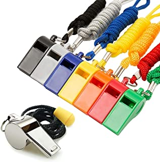 Fya Whistle, 8PCS Sports Whistles with Lanyard, Loud Crisp Sound Whistles Bulk Ideal for Referees, Coaches, and Officials