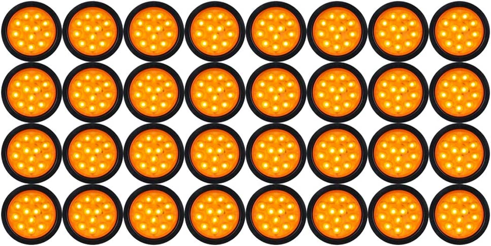 Max Large-scale sale 70% OFF Turn Signal Indicator 4 inch Round Tail Amber Gromm Light 12-LED