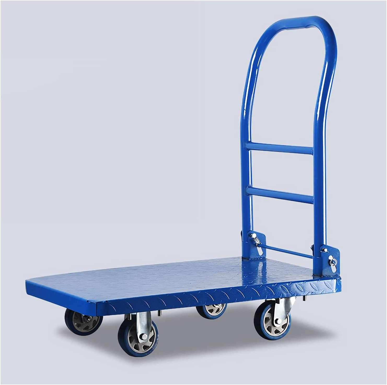 DALIZHAI777 Platform Cart Metal 2021new shipping free shipping Hand Handle Foldable with Truck Genuine