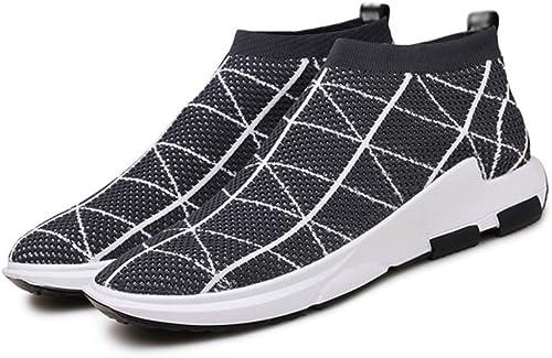 AISHUAIGE AISHUAIGE AISHUAIGE été Haut Haut Sport Décontracté Chaussures Marée Flying Weave Chaussures de Course Marée Chaussures Grande Taille 39-45 b08