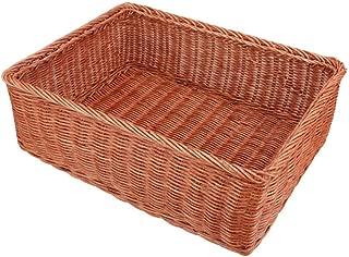 Asdfnfa Shopping Basket Rattan Woven Fruit Storage Basket Desktop Sundries Snack Basket asdfnfa (Color : Brown)