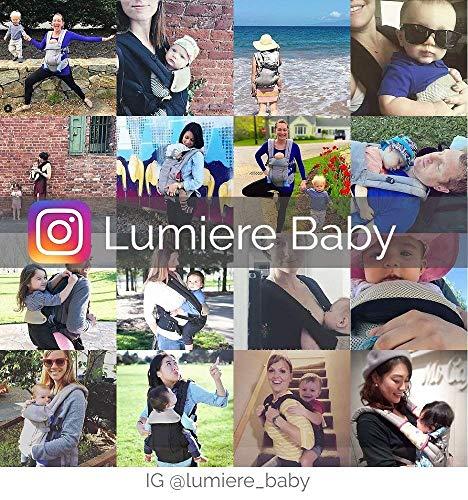 Lumiere Baby ルミエール 6WAY 抱っこひも温度調節パネルで年中快適 - 前向き おんぶ 授乳可能 - 疲れにくい腰サポート付 Black
