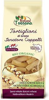 Probios Natura Toscana Pasta de Semolado de Trigo Duro Senatore Cappelli Tortiglioni - 12 paquetes