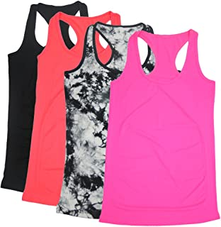 Racerback Tank Top, Women's Workout Tanks Tops 1,2,4 Packs S-XL