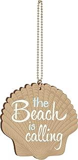 P. Graham Dunn The Beach is Calling Seashell Wood Car Charm