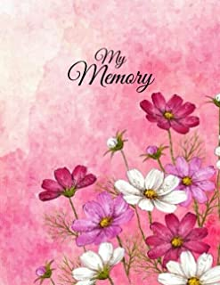 My Memory: Floral notebook (Lined notebook journal)Pink journal notebook (8.5x11 inches),120 pages