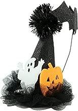 قبعة صغيرة على شكل شبح، يقطين و مضرب سوداء لشعر الهالوين للفتيات والنساء، مقاس 12.7 سم