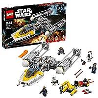 Construisez l'emblématique Y-Wing Starfighter avec son chargeur d'armes équipé d'une grue rotative et de munitions supplémentaires Inclut quatre figurines : un pilote d'Y-Wing, l'Amiral Raddus, Moroff et un Stormtrooper, ainsi qu'un droïde astromech ...