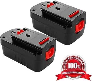 3.6Ah 18V HPB18 Battery Replacement for Black and Decker HPB18-OPE 244760-00 A1718 FSB18FL FSB18 Firestorm 18 Volt Batteries,2Pack