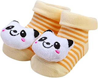 Cartoon Newborn Baby Girls Boys Anti-Slip Socks Slipper Cute Shoes Boots