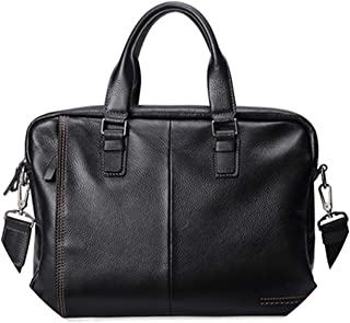 Glittering time Leather Briefcase Men Bag,black,China