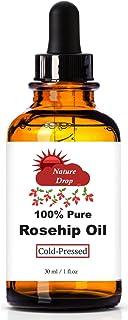 Nature Drop's 玫瑰果油 - * 纯净,冷粉优质玫瑰果籽油。 Best Natural 润肤霜,修复干燥肌肤,细纹和*痕