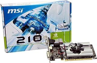 MSI N210-MD1G/D3 GeForce 210 グラフィックカード - 589 MHzコア- 1 GB GDDR3 SDRAM - PCI Express 2.0 x16 - ハーフハイト - メモリー周波数1000 MHz - 2560 x 1600 - DirectX 10.1 - HDMI - DVI - VGA ロープロファイル