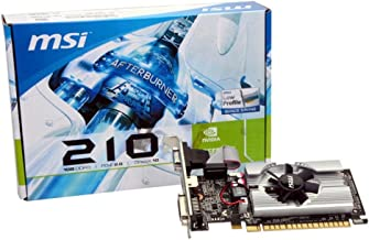 MSI N210-MD1G/D3 GeForce 210 Graphic Card - 589 MHz Core - 1 GB GDDR3 SDRAM - PCI Express 2.0 x16 - Half-Height - 1000 MHz...