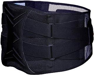 腰サポーター 伸縮性/メッシュ 通気 幅広 二重ベルト サポート 加圧式 スポーツ用 腰痛予防 腰椎 固定/保護 ベルト 大きいサイズ 男女兼用