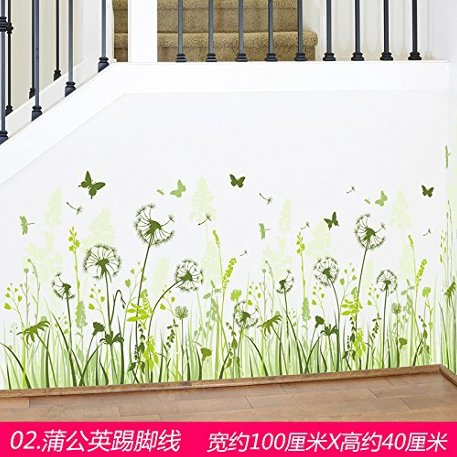 Znzbzt to Remove The Skirting The Wall Surface Decoration Wall Sticker Corner Stringcourse Posters Wallpaper self Adhesive, Dandelion