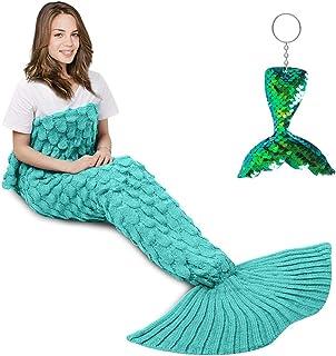 AmyHomie Mermaid Tail Blanket, Mermaid Blanket Adult Mermaid Tail Blanket, Crotchet Kids..