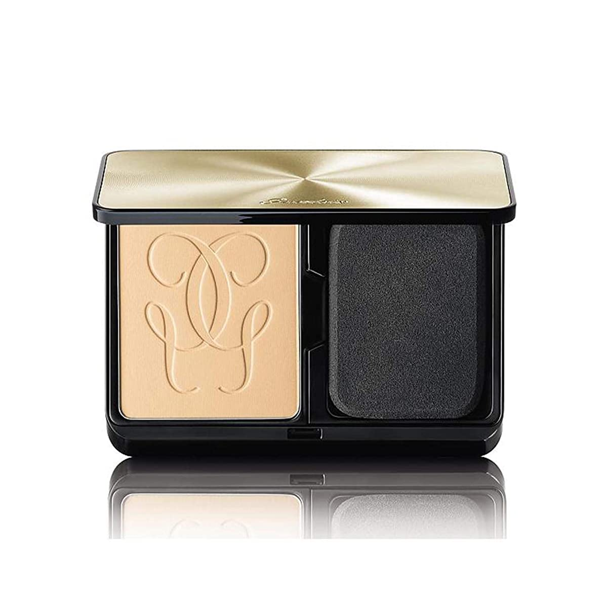 カスタムオートマークされたゲラン Lingerie De Peau Mat Alive Buildable Compact Powder Foundation SPF 15 - # 01N Very Light 8.5g/0.29oz並行輸入品