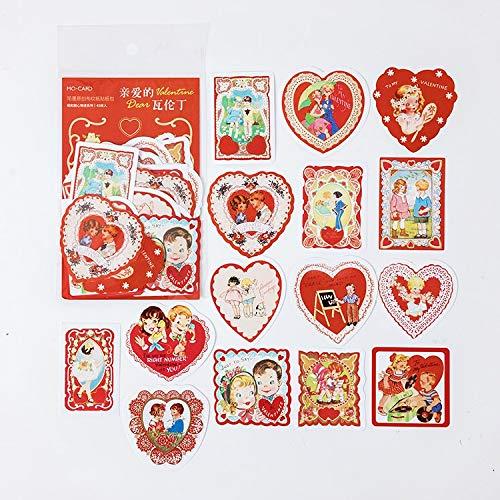 BLOUR 45 unids/Lote Pegatinas de papelería Kawaii Historia de Amor DIY artesanía álbum de Recortes Diario Basura planificador Feliz Pegatinas de Diario