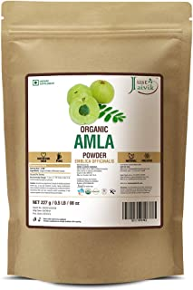 Just Jaivik 100% Organic Amla Powder - Certified Organic By Onecert Asia, 227 Gms / 1/2 Lb Pound / 08 Oz - Indian Gooseber...