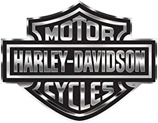 HARLEY-DAVIDSON Bar & Shield Logo Decal, X-Large 30 x 40 in, Gray & Black CG4330