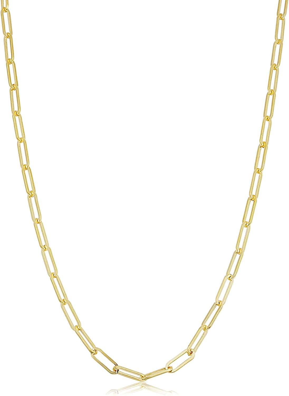 MCS Jewelry 14k Yellow Gold Paperclip Link Chain Necklace 2.5 mm (18