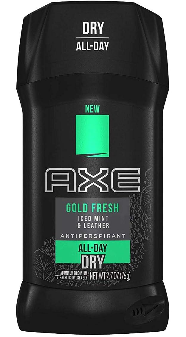 成長ピース合意アックス AXE メンズ デオドラント ゴールドフレッシュ アイスドミント&レザー 男性用 固形 制汗剤 オールデイ ドライ 76g