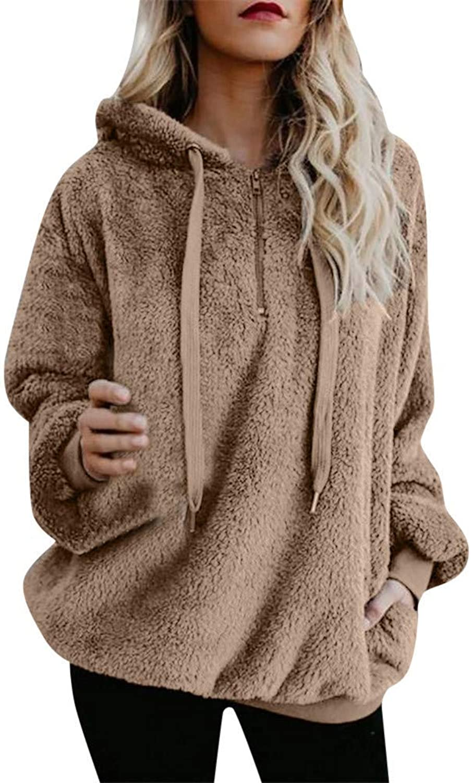 Bon Soir Women T Shirt Outwear,Plus Size Women Lady Hooded Sweatshirt Coat Winter