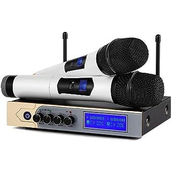 Altavoces-VW022 Fiestas en casa y Eventos al aire libre para Divertirse Micr/ófono Inal/ámbrico VeGue Sistema de Micnal/ámbrir/ófono de din/ámico Port/átil para Noches de karaoke Sistema de Megafon/ía