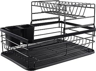 Dpliu Séchage à la Vaisselle Râle de Stockage de Rangement 2 Couches de la Vaisselle de la Vaisselle d'organisateur (Color...
