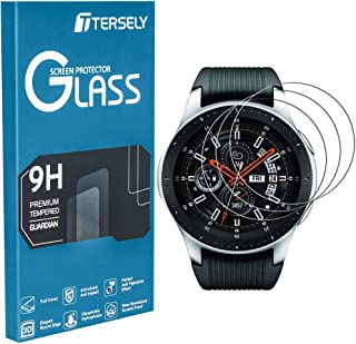TERSELY Screen Protector for Samsung Galaxy Watch 42mm, (3 Pack) Samsung Galaxy Watch 9H Hardness Tempered Glass Screen Pr...