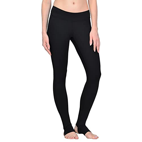 7201c80b41 YIANNA Yoga Pants, Women's Mesh Panel Side Barre Stirrup Leggings Inner  Pocket Workout Running Pants
