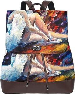 LUPINZ - Mochila de Piel para la Vuelta al Cole, diseño de Bailarina de Ballet