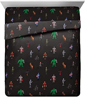 Jay Franco Marvel Justin Harder 4 Piece Queen Sheet Set Featuring The Avengers