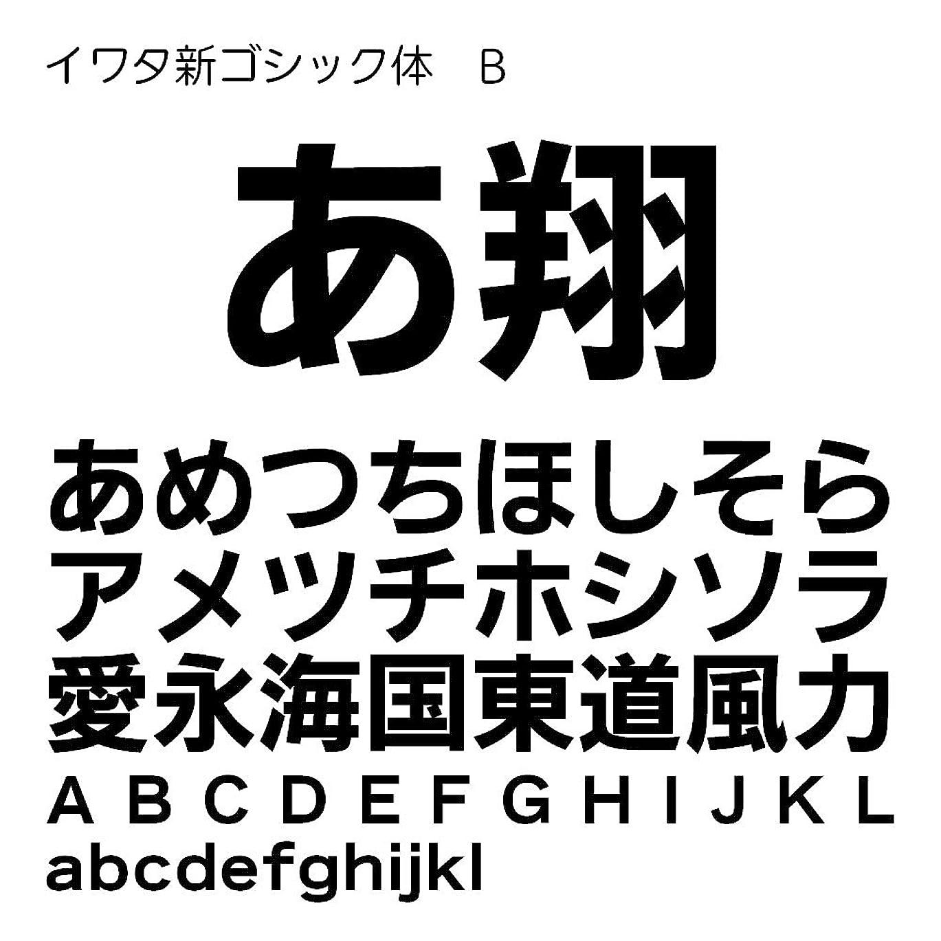 区画病んでいるバリアイワタ新ゴシック体B Pro OpenType Font for Windows [ダウンロード]